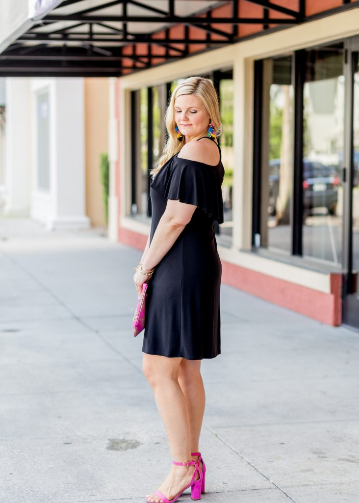 Little Black Dress With A Pop Of Color Fabulously Overdressed