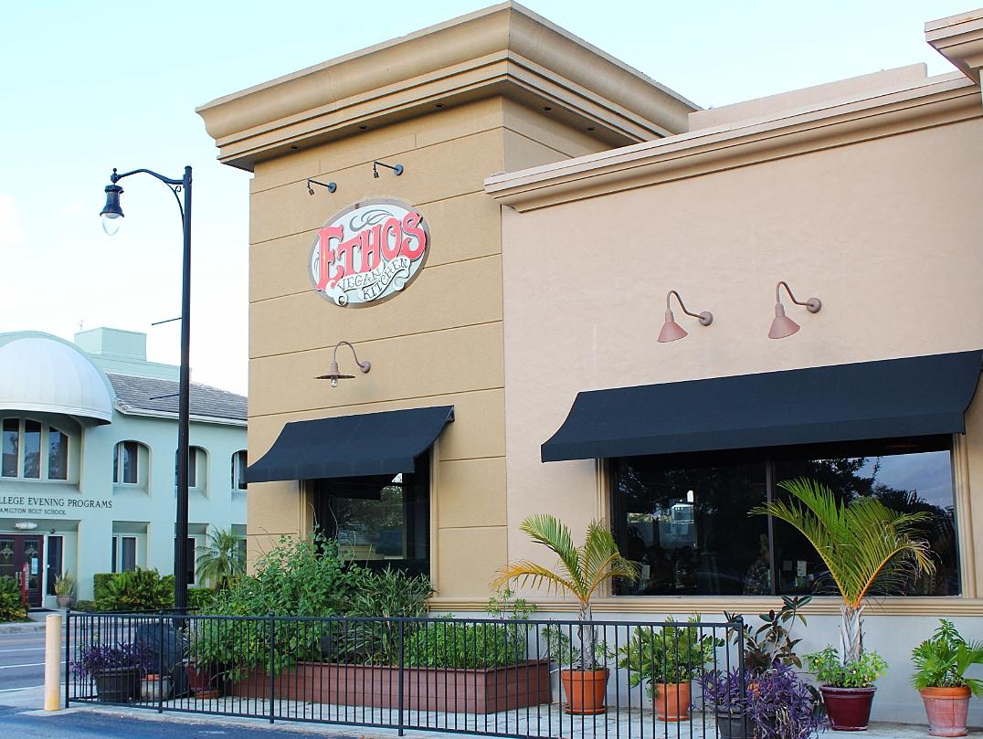 Orlando blogger emily shares Ethos restaurant in orlando fabulously overdressed
