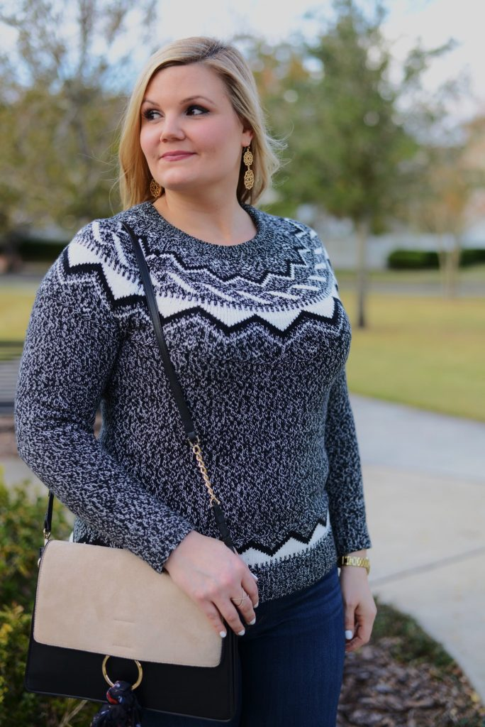Fair-isle-sweater-and-over-the-knee-boots