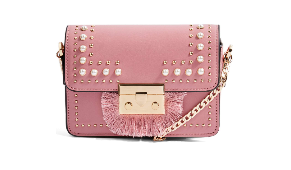 Recent Favorites featured by top Orlando life and style blog, Fabulously Overdressed: image of Topshop Rosie pearl crossbody bag