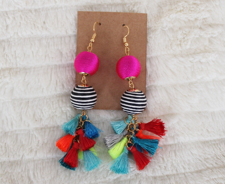 Recent Favorites featured by top Orlando life and style blog, Fabulously Overdressed: image of South Texas Glam statement earrings