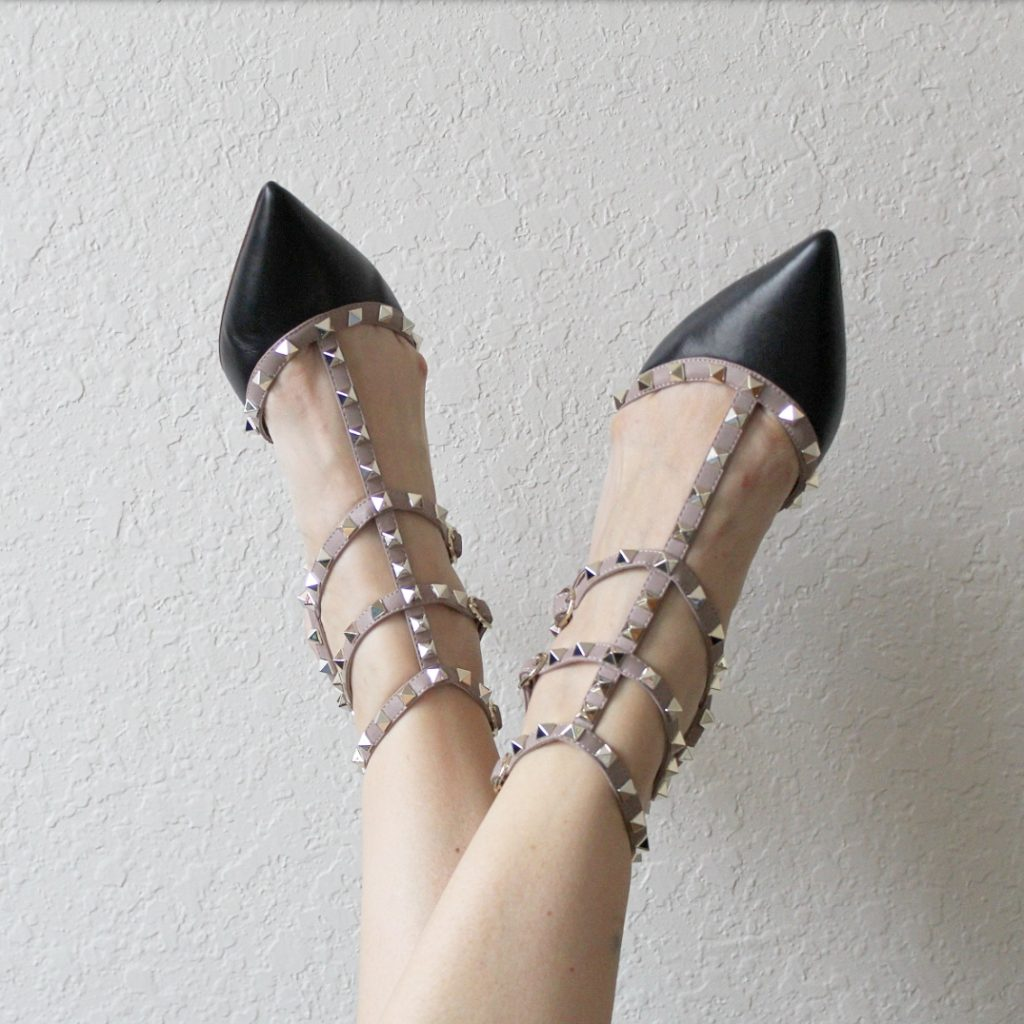 Recent Favorites featured by top Orlando life and style blog, Fabulously Overdressed: image of Kaitlyn Pan studded heels
