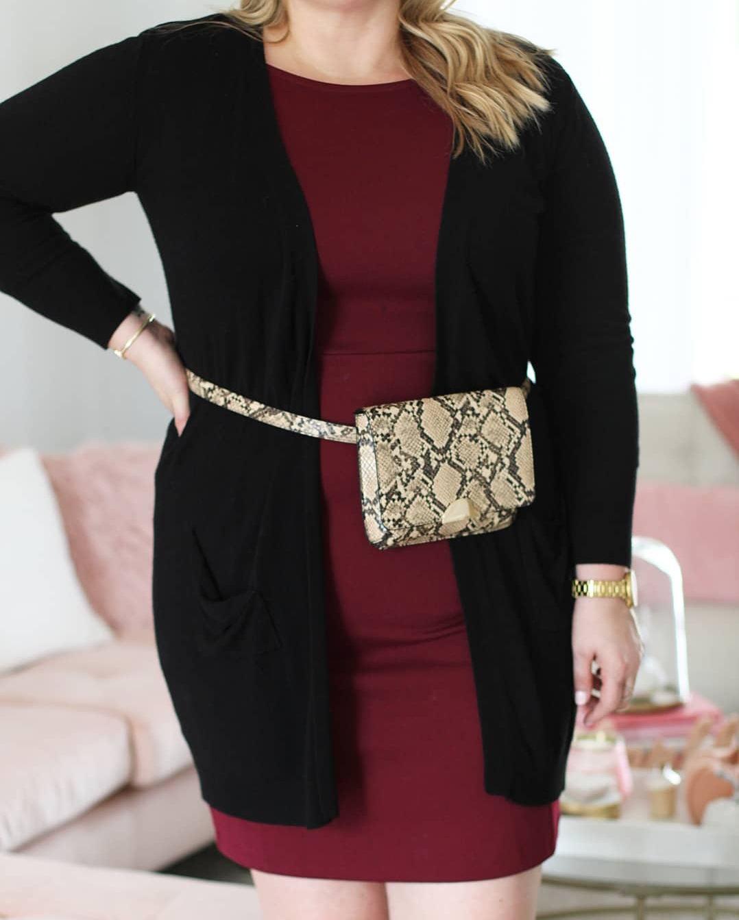Snakeskin print belt bag fabulously Overdressed