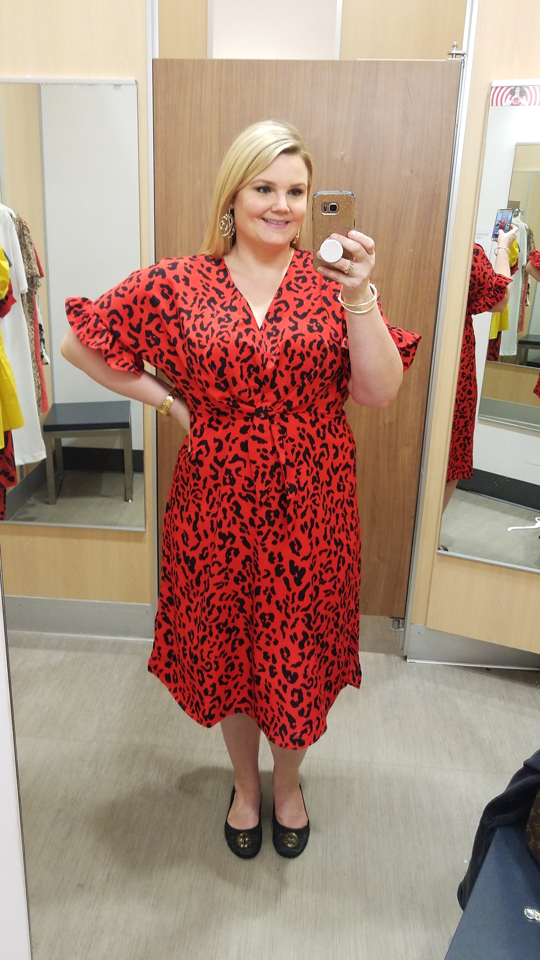 Orlando blogger Emily of Fabulously Overdressed shares this pretty red spring dress from Target