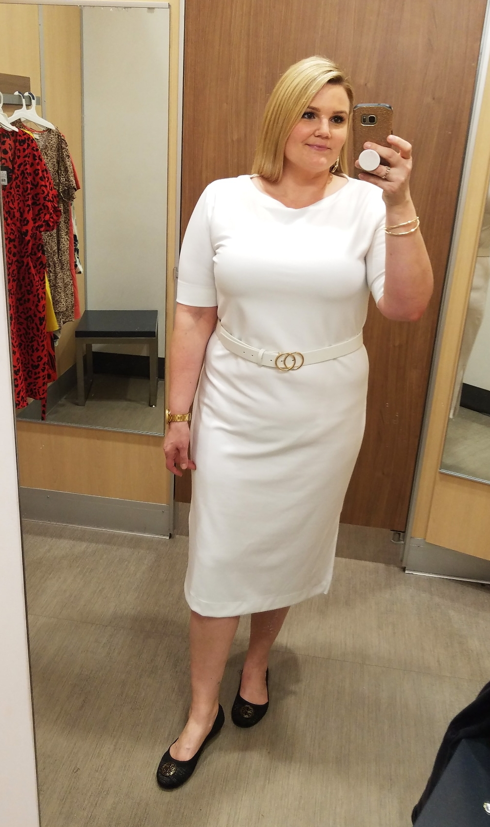 Orlando blogger Emily of Fabulously Overdressed shares this white spring dress from Target.