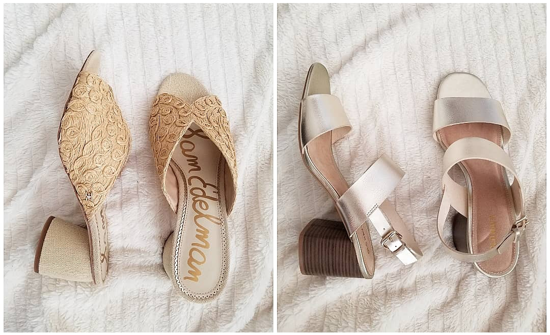 Orlando blogger Emily of Fabulously Overdressed shares her new closet items, including these Block Heeled Neutral Summer Shoes