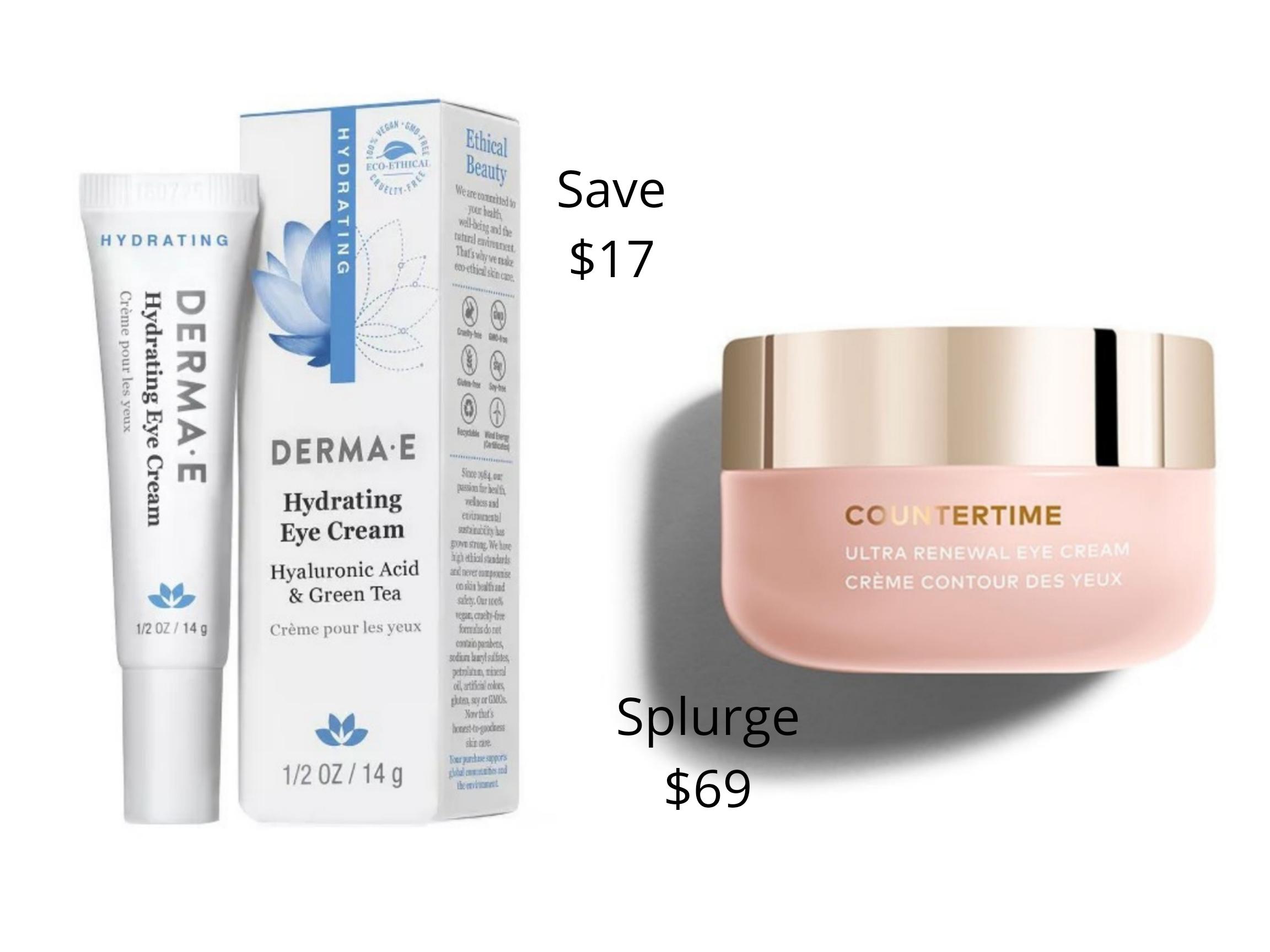 Orlando Beauty Blogger Emily of Fabulously Overdressed shares her favorite save vs splurge eye creams.