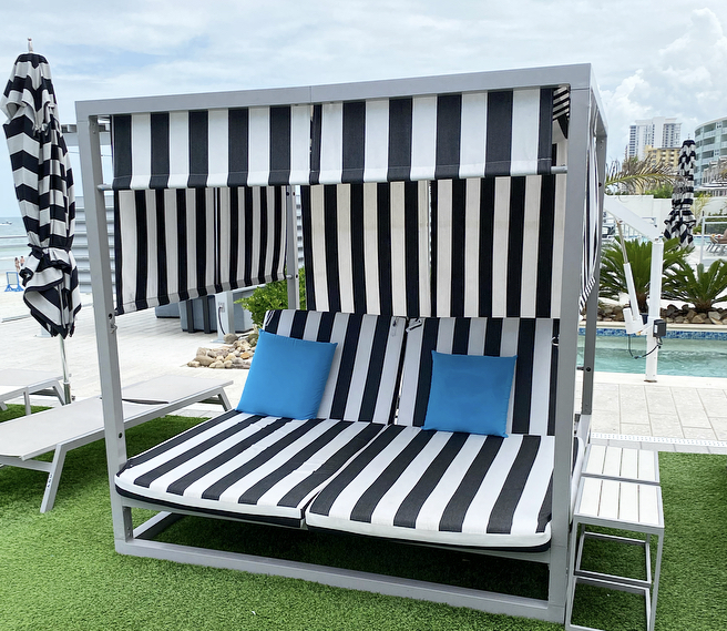 Pool cabana at the Hard Rock Hotel Daytona Beach Fabulously Overdressed