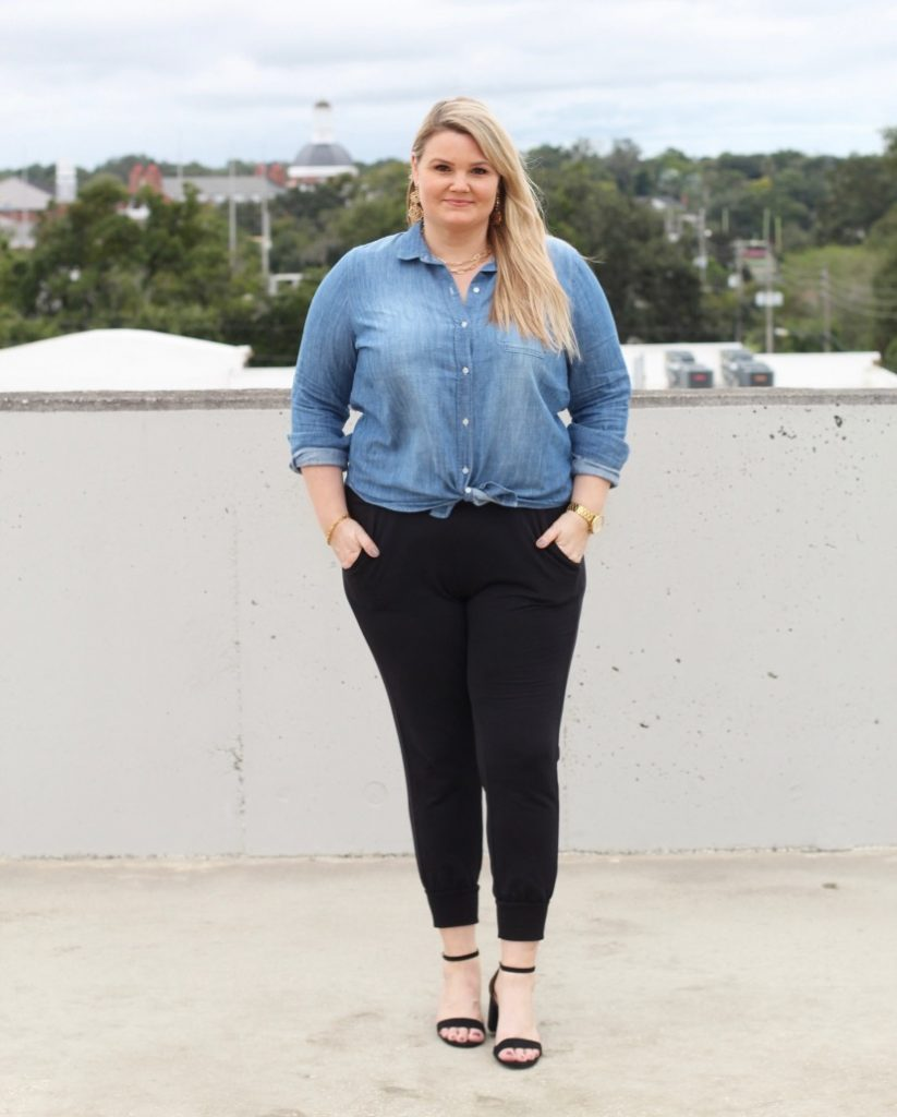 Top Orlando blogger Emily of Fabulously Overdressed share three ways to style your joggers.