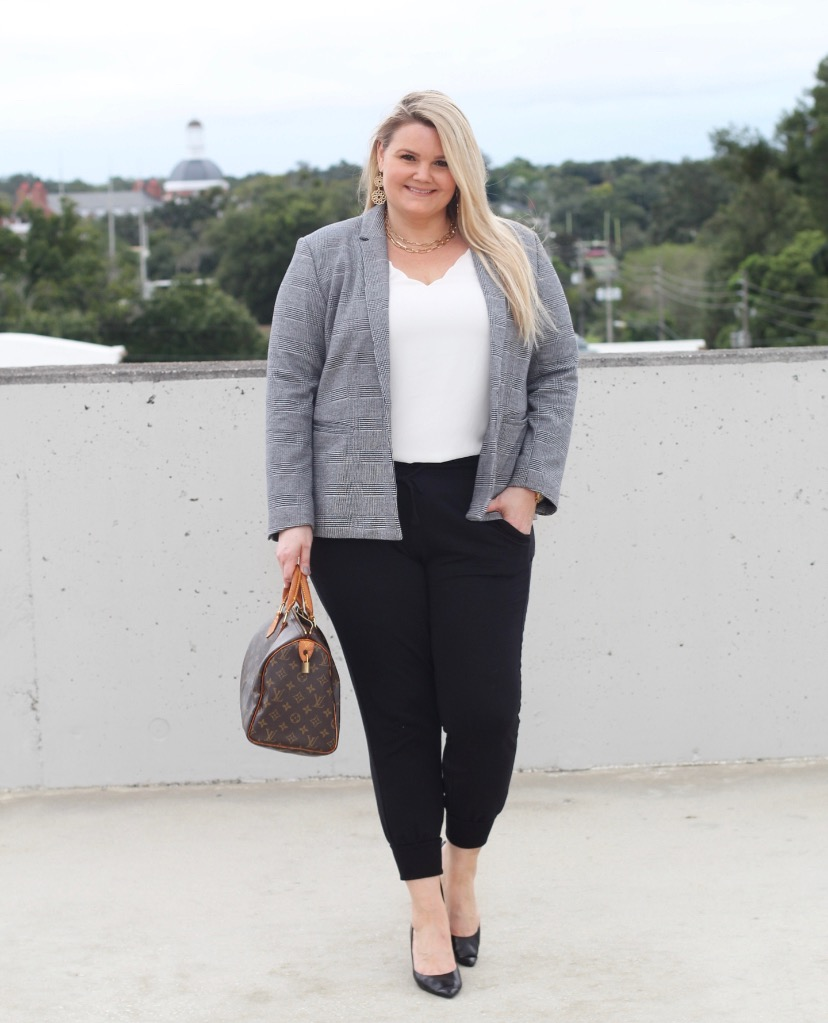Fabulously Overdressed blog shares three ways to style your joggers!