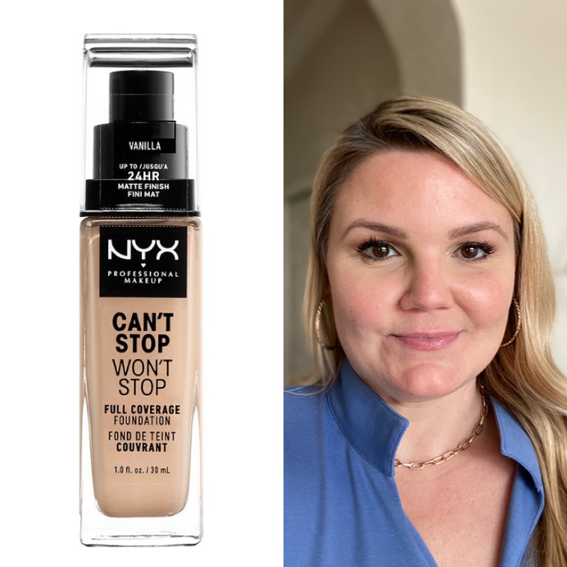 See how blogger Emily of Fabulously Overdressed compares NYX Can't Stop Won't Stop Foundation to other drugstore brands!