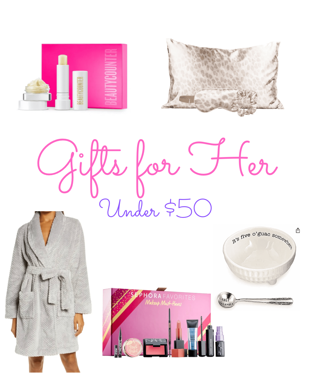 Fashion blogger Fabulously Overdressed shares her gift guide for her under $50