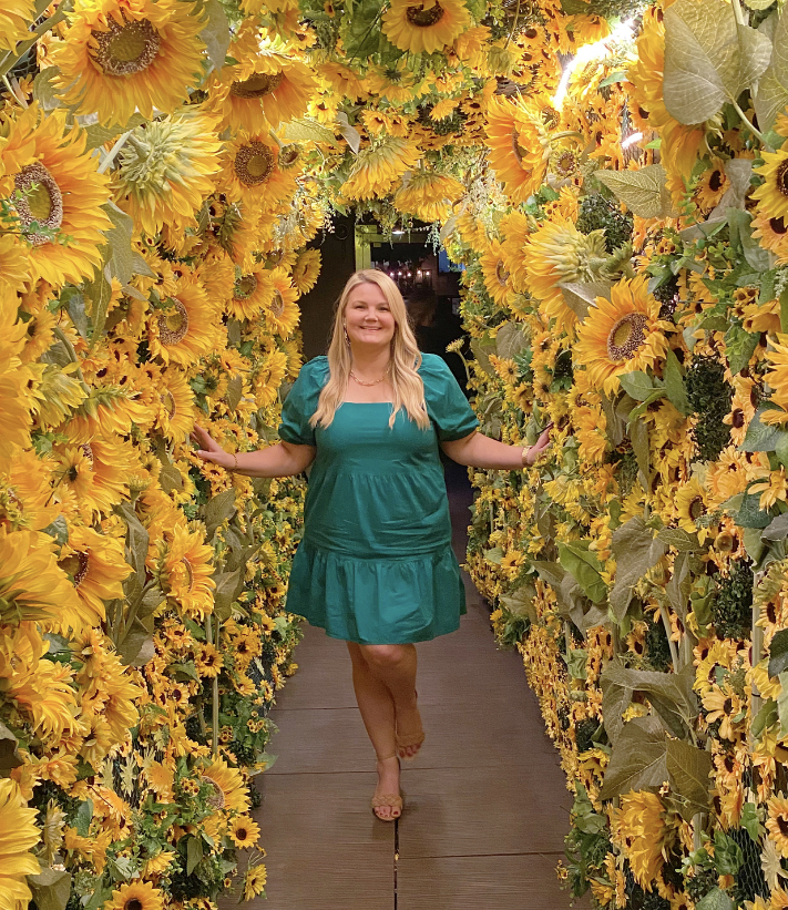 Sunflower tunnel at PHD Terrace NYC